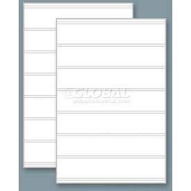 "Magic Master Replacement Faces, (2) For The Standard QLA, 24"" X 36"" X 4 Mm-White Message Board"