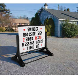"RS-SSW-MB Magic Master Roadside Standard Message Board Sign 48""W X 36""H-White"
