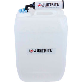 justrite 12839 vaportrap™ un/dot carboy with filter kit, hdpe, 20-liter, 6 ports Justrite 12839 VaporTrap™ UN/DOT Carboy With Filter Kit, HDPE, 20-Liter, 6 Ports