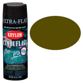 K04293007 Krylon Camouflage With Fusion For Plastic Paint Olive Drab - K04293007