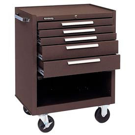 "275XB Kennedy; 275XB 27"" 5-Drawer Roller Cabinet w/ Ball Bearing Slides - Brown"