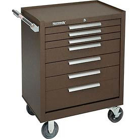 "277XB Kennedy; 277XB 27"" 7-Drawer Roller Cabinet w/ Ball Bearing Slides - Brown"