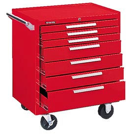 "297XR Kennedy; 297XR 29"" 7-Drawer Roller Cabinet w/ Ball Bearing Slides - Red"