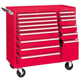 "315XR Kennedy; 315XR 39"" 15-Drawer Roller Cabinet - Red"