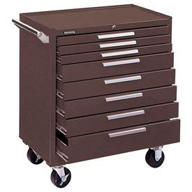 "348XB Kennedy; 348XB 34"" 8-Drawer Roller Cabinet w/ Ball Bearing Slides - Brown"