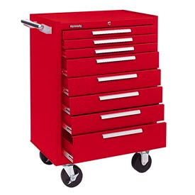 "378XR Kennedy; 378XR 27"" 8-Drawer Roller Cabinet w/ Ball Bearing Slides - Red"