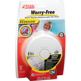 21010161 Kidde P3010B Worry-Free Smoke Alarm, Bedroom, 10-Year Sealed Lithium Battery Operated