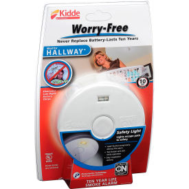 21010167 Kidde P3010H Worry-Free Smoke Alarm, Hallway 10-Year Sealed Lithium Battery Operated