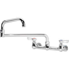 "12-818L Krowne 12-818L - Silver Series 8"" Center Wall Mount Faucet, 18"" Jointed Spout"