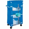 332 Lakeside; 332 Stainless Steel Linen Service Cart with Nylon Cover, 300 lbs. Capacity