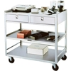 474 Lakeside; 474 Stainless Steel Equipment Stand, 3 Shelves, 2 Drawers, 500 lbs Capacity