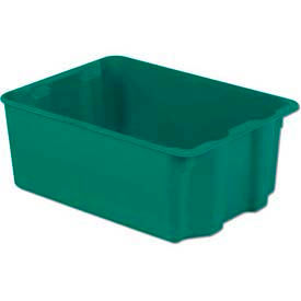 SN2217-10-GN LEWISBins Plexton; SN2217-10 Fiberglass Stack-N-Nest Container, 25-5/16 x 18-1/8 x 10-1/8 Green