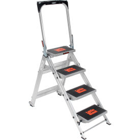 10410BA Little Giant; Safety Aluminum Step Ladder - 4 Step - 10410BA