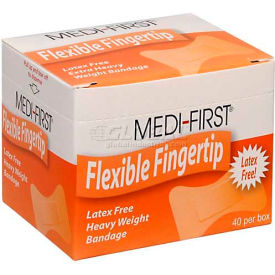 61578 Flexible Fingertip Bandage, Extra Heavy Weight, 40/Box