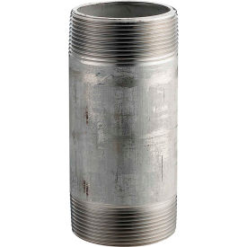 4024-600 1-1/2 In. X 6 In. 304 Stainless Steel Pipe Nipple - 16168 PSI - Sch. 40 - Domestic