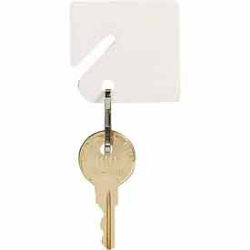 201300006 MMF Slotted Rack Key Tags with Snap-Hook 201300006 Plain White, Resealable Bag, 2 Pack of 40 Tags