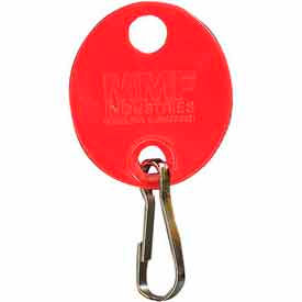 201800907 MMF Snap-Hook Oval Key Tags 201800907 Plain, Pack of 20 Tags, Red