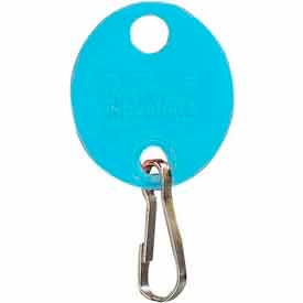 201800908 MMF Snap-Hook Oval Key Tags 201800908 Plain, Pack of 20 Tags, Blue