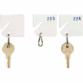 5313231BE06 MMF Slotted Rack Key Tags with Snap-Hook 5313231BE06 - Numbered 181-200, White