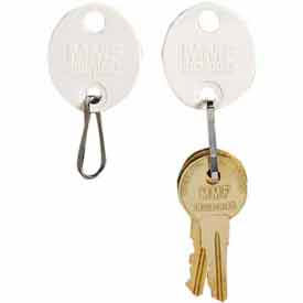5313260AA06 MMF Snap-Hook Oval Key Tags 5313260AA06 - Tags 1-20, White Tag Blue Number