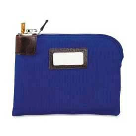"2330981W08 MMF Currency Bag with Built-in Lock 2330981W08 Nylon, 11"" x 8-1/2"", Navy"