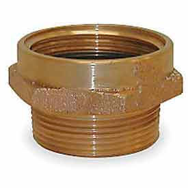 357-1521561 Fire Hose Female/Male Hose Nipple - 1-1/2 In. NH Female X 1-1/2 In. NPT Male - Brass