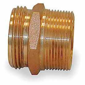 358-1561521 Fire Hose Double Male Nipple - 1-1/2 In. NPT X 1-1/2 In. NH - Brass