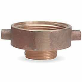 369-2521521 Fire Hose Female/Male Reducer Adapter - 2-1/2 In. NH Female X 1-1/2 In. NH Male - Brass