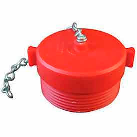 663-252 Fire Hose Red Hose Plug - 2-1/2 In. NH - Plastic