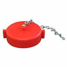664-152 Fire Hose Red Hose Cap - 1-1/2 In. NH - Plastic