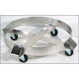 "morse® stainless steel round drum dolly 14-ss - 23"" diameter - 1000 lb. cap. steel casters"