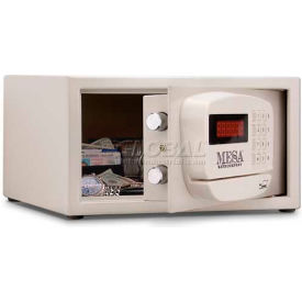 "MH101E Mesa Safe Hotel & Residential Electronic Security MH101E Keyed Differently, 15""W x 10""D x 7""H, White"