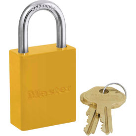 6835YLW Master Lock; Safety 6835 Series Aluminum Padlock, Hi-Vis Yellow, 6835YLW