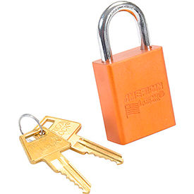 american lock® no. a1105orj solid aluminum rectangular padlock, orange