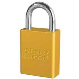 american lock® no. a1105ylw solid aluminum rectangular padlock - yellow
