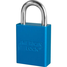 "american lock® s1105blu aluminum safety padlock, 1-1/2""w x 1""h shackle, blue"