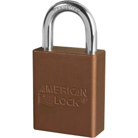 "american lock® s1105brn aluminum safety padlock, 1-1/2""w x 1""h shackle, brown"