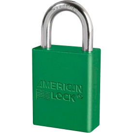 "american lock® s1105grn aluminum safety padlock, 1-1/2""w x 1""h shackle, green"