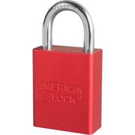 "american lock® s1105red aluminum safety padlock, 1-1/2""w x 1""h shackle, red"