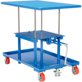 MT-3042-HP Vestil Hand Crank Operated Mechanical Post Table MT-3042-HP - 30 x 42 High Profile
