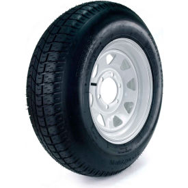 kenda carrier star trailer tire dm225d5d-6ct - 6-hole custom spoke wheel (5/4.5) - 225/75d-15 lrd