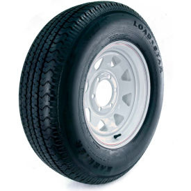 kenda loadstar karrier radial trailer tire - 6-hole custom spoke wheel (5/4.5) - 225/75r-15 lrd Kenda Loadstar Karrier Radial Trailer Tire - 6-Hole Custom Spoke Wheel (5/4.5) - 225/75R-15 LRD