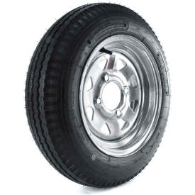 kenda loadstar trailer tire dm412b-4g-i - 4-hole galvanized spoke wheel - 4.80-12 lrb