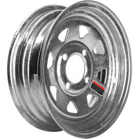 martin wheel r-124s-g 4-hole galvanized steel trailer wheel - 12 x 4