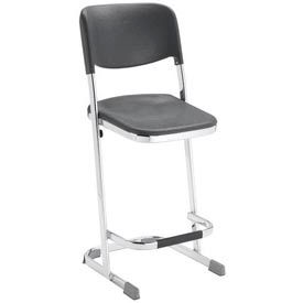 "6622B NPS Z-Stool with 22""H Blow Molded Seat and Backrest - Elephant Series"
