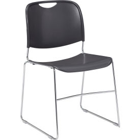 8502 Stacking Chair - Plastic - Gray