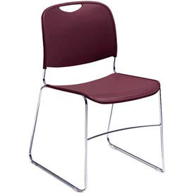 8508 Stacking Chair - Plastic - Wine