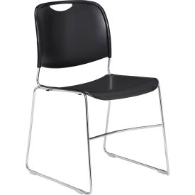 8510 Stacking Chair - Plastic - Black