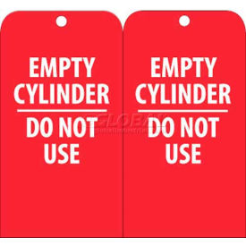 "RPT35 NMC RPT35 Tags, Empty Cylinder Do Not Use, 6"" X 3"", White/Red, 25/Pk"