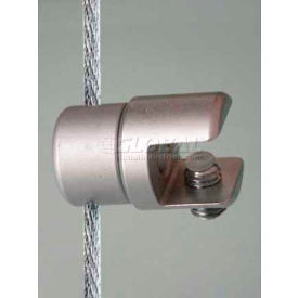 "Multi-Position Panel or Glass Support for 3/8"" Panel & 1.5mm Cables, Satin Chrome"